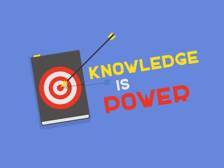 pocket book: flat book icon - Knowledge is Power