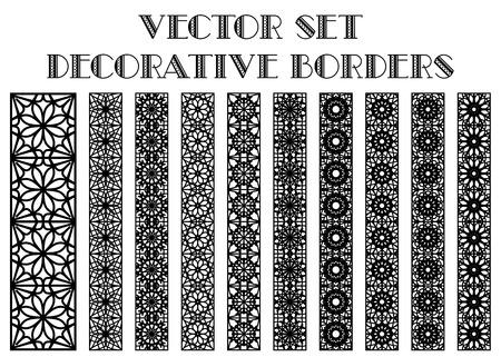 borde de flores: Los elementos de dise�o y decoraci�n de la p�gina. Fronteras del vector fijadas Vectores