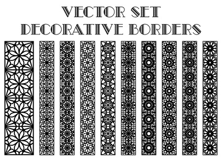 Design elements and page decoration. Vector borders set