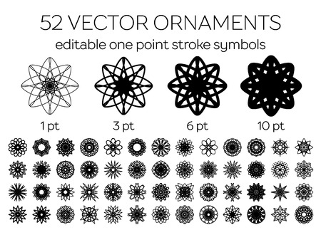 Editable round east ornament set. Vector symbols Vector