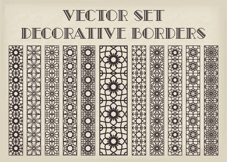 Design elements and page decoration. Vector borders set Vector