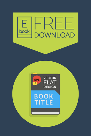 ereader: Flat Ebook free download icon. Vector button