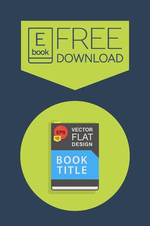 e magazine: Flat Ebook free download icon. Vector button