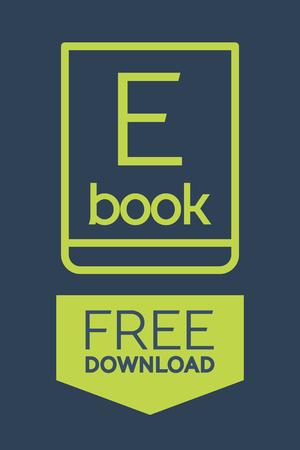 ebook: Flat Ebook free download icon. Vector button