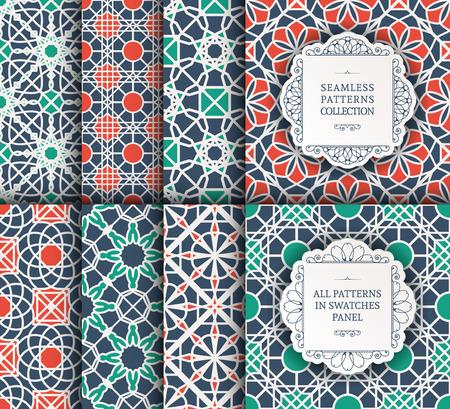 indische muster: Nahtlose Textur mit geometrischen Ornament. Vector Reihe von Mustern