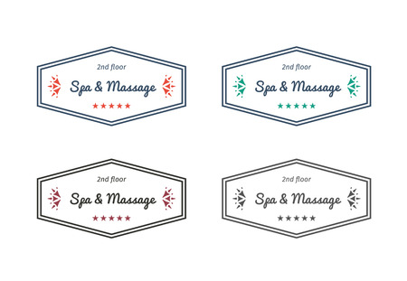 masseur: Spa and massage logo template. Vector design for beauty salons, spa, massage, healthcare and medicine. Illustration