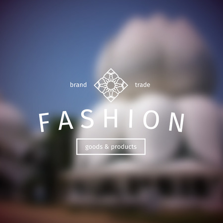 ashram: Asian fashion shops logo template. Vector ethnic ornamental design for clothing and accessories boutiques. Illustration