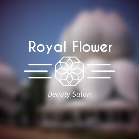 ashram: Asian health and beauty logo template. Vector ethnic ornamental design for beauty salons, spa, massage, saunas, healthcare and medicine.