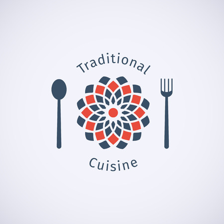 logo de comida: Asia plantilla de logotipo alimentos. Vector dise�o ornamental �tnico para restaurantes y cafeter�as.