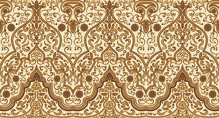 filigree border: Seamless texture with luxury arabic ornament. Vector vintage pattern