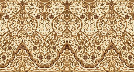 oriente: Textura inconsútil con adorno de lujo árabe. Vector patrón de la vendimia