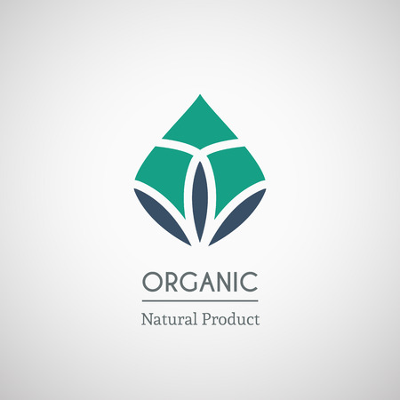 Organic natural product logo design. Vector geometric symbol Illustration