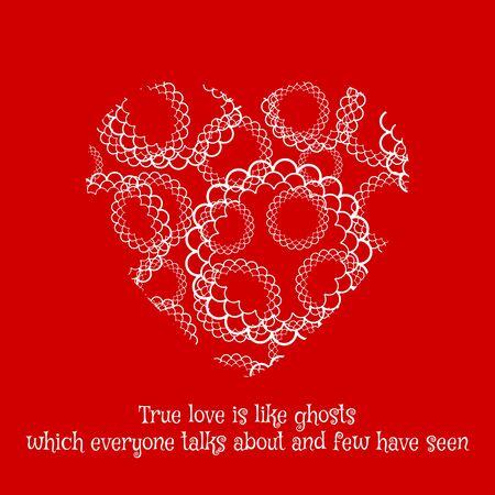 romantic: Romantic greeting card with heart. Vector illustration Illustration