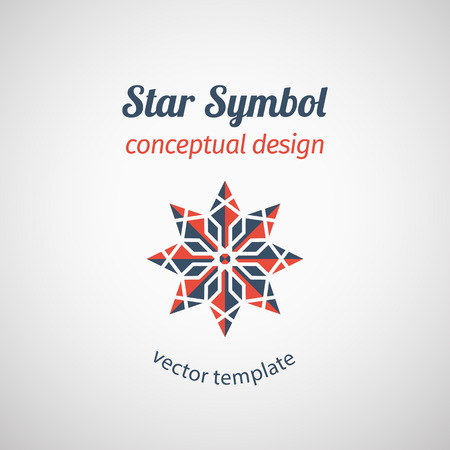 clean energy: Ornamental star logo design. Abstract vector emblem