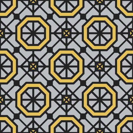 fabric patterns: Seamless texture with geometric ornament. Vector pattern