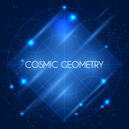 arcanum: Magic geometry sign. alchemy mystical symbol on space background