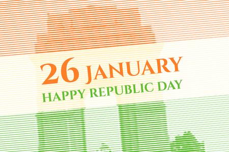 india gate: Lineart background of India Gate. Indian Republic Day celebration