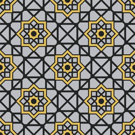 Seamless texture with arabic geometric ornament. pattern