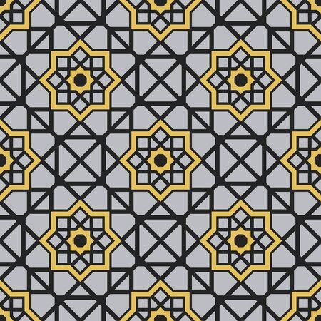 Seamless texture with arabic geometric ornament. pattern