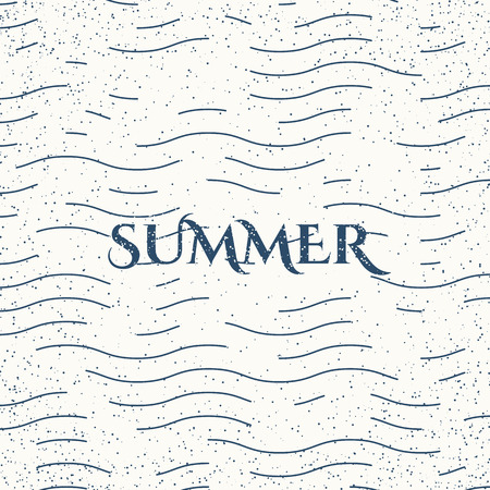 Summer - typographic design in vintage style. Vector poster