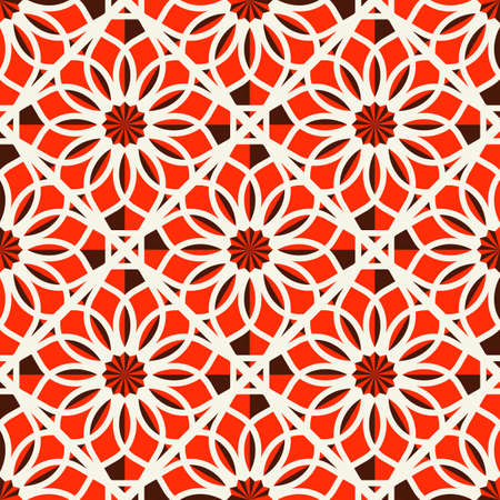pakistani: Seamless texture with arabic geometric ornament. Vector pattern