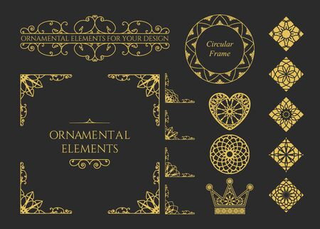 Calligraphic Design Elements Vector Set Of Vintage Page Decorations