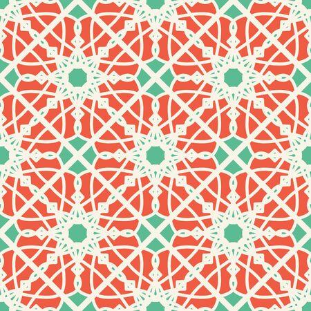 aboriginal: Seamless texture with arabic geometric ornament. Vector pattern