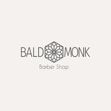 beauty shop: Asian barber shop template. ethnic ornamental design for beauty salons