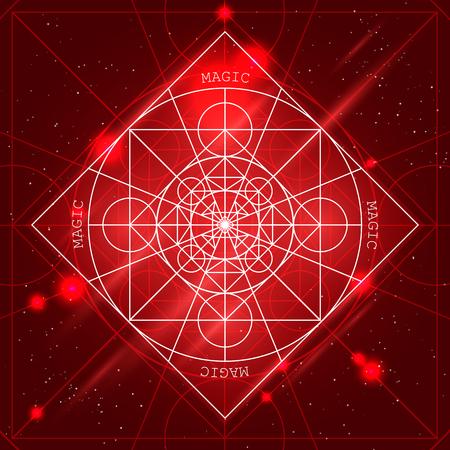 arcanum: Magic geometry sign. Illustration