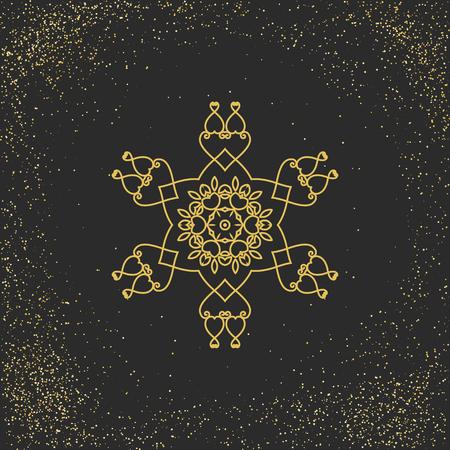 ornamento mandala asiático. Vector decorativo símbolo circular.