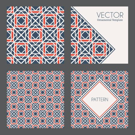 rhomb: Seamless textures collection with geometric ornaments. Vector patterns