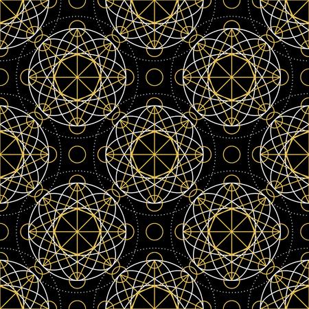 arcanum: Geometric seamless texture. Illustration