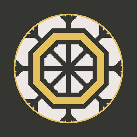radiant: Traditional asian ornament. Vector arabic geometric symbol