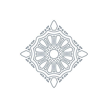 Linear arabic ornament. Vector emblem for logos and decorative design Illustration