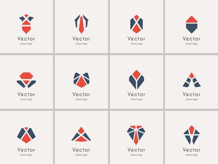 plantillas de logotipo geométrico del modelo. Vector símbolos modernos y emblemas
