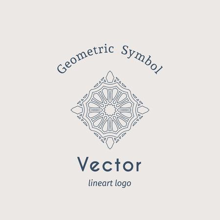 Vintage arabic ornament. Vector emblem for luxury  and retro ornamental design. Illustration