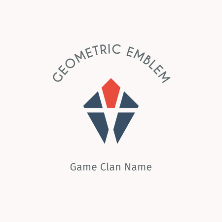 clan: Geometric logo template. Vector modern symbol for alternative or extreme sport teams and crews Illustration