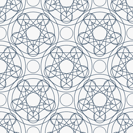 arcanum: Geometric seamless texture.  linear mystical pattern on white background Illustration