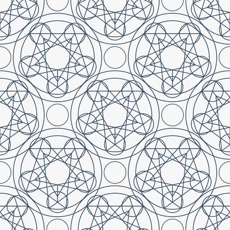 arcanum: Geometric seamless texture.  linear mystical pattern on white background Illustration