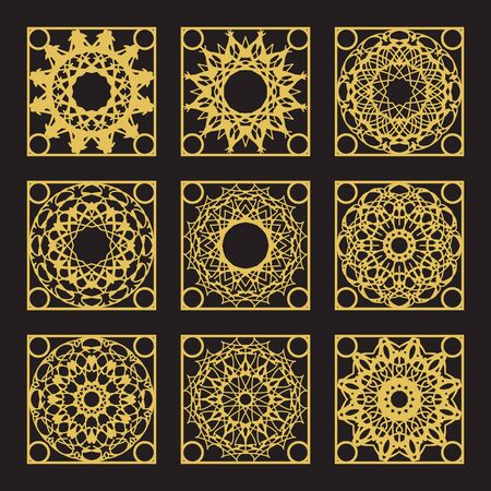royal person: Patterns set with luxury arabic geometric ornaments.  collection Illustration