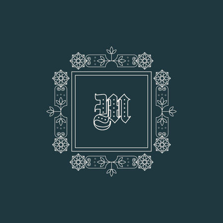 luxuries: Vintage monogram. Vector emblem for calligraphic luxury logos and retro ornamental design.