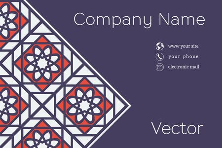 business card: Vector Business Card Template