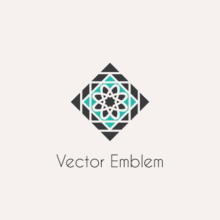 rhomb: Vector mosaic rhomb emblem Illustration