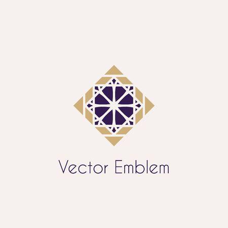 rhomb: Vector mosaic rhomb emblem Illustration