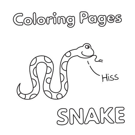 Cartoon Snake Coloring Book