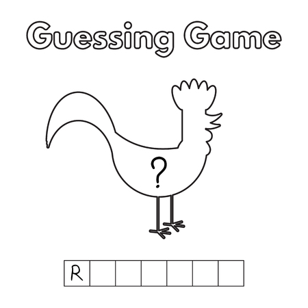 and guessing: Cartoon Rooster Guessing Game.