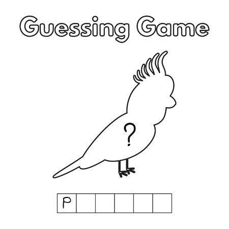 and guessing: Cartoon Parrot Guessing Game.