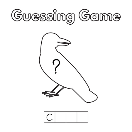 and guessing: Cartoon Crow Guessing Game.