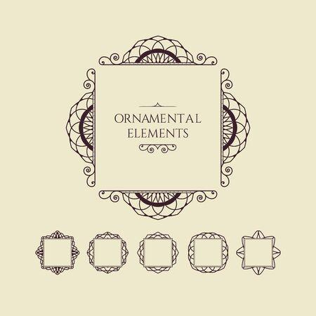 Vintage  presentation of a  Vector Decorative Frames Ilustração