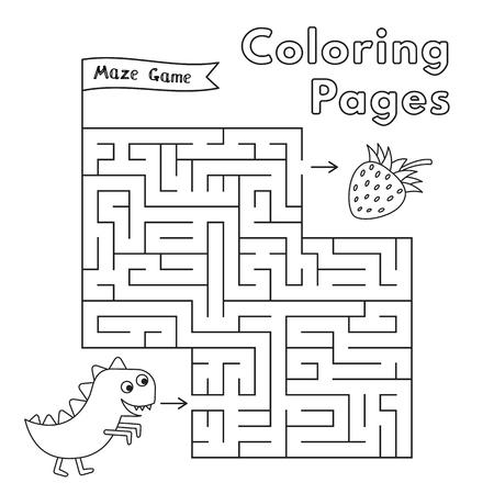 Cartoon Dinosaur Maze Game